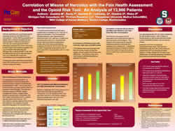 Correlation of Misuse of Narcotics with the Pain Health Assessmen